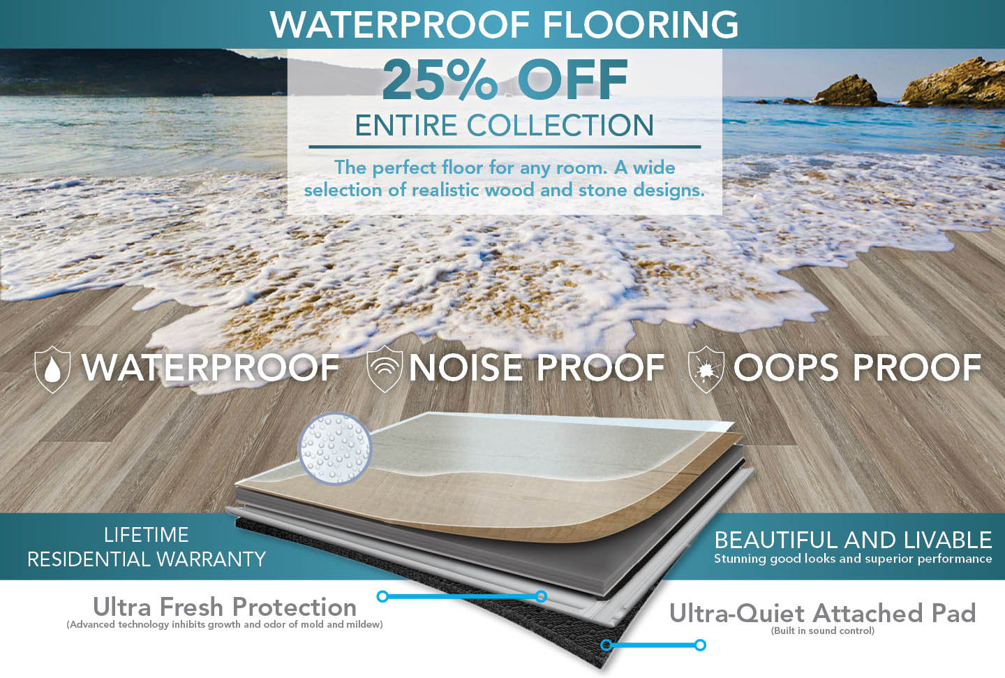 25% off all waterproof flooring!